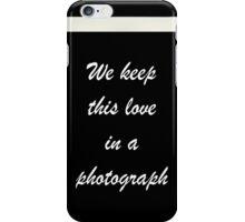 Ed Sheeran Photograph lyrics  iPhone Case/Skin
