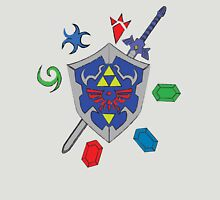 Zelda Inspired Items and Sheild Unisex T-Shirt