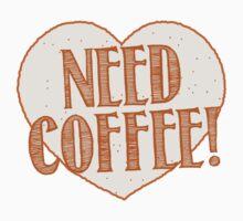 NEED COFFEE heart One Piece - Long Sleeve