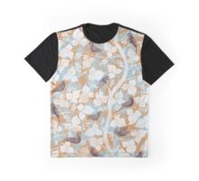 Birds in Light Blue & Beige Graphic T-Shirt