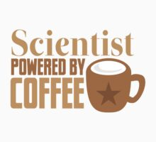Scientist powered by coffee Kids Tee