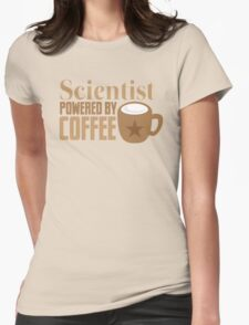 Scientist powered by coffee Womens Fitted T-Shirt