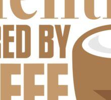 Scientist powered by coffee Sticker