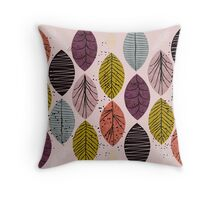 Nature Leaves by Seasons Throw Pillow