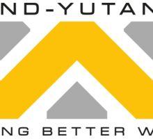 Weyland-Yutani (black font) Sticker