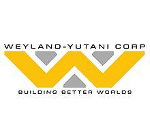 Weyland-Yutani (black font) Photographic Print