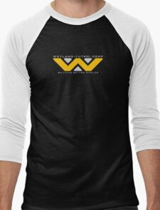 Weyland-Yutani (white font) Men's Baseball ¾ T-Shirt