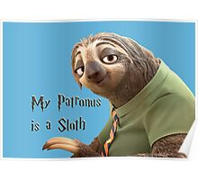 My Patronus is a Sloth Poster