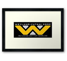 Weyland-Yutani (white font) Framed Print