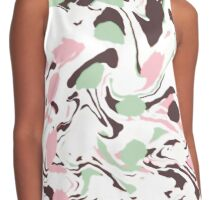 Stirred colors on white Contrast Tank
