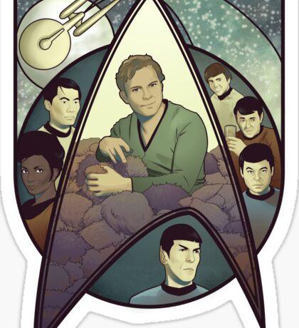 Star Trek Art Nouveau Sticker