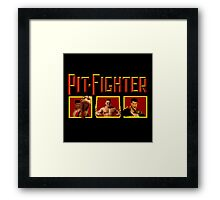 PIT FIGHTER CLASSIC ARCADE GAME Framed Print