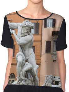 Marble Muscles - Fountain of Neptune, Piazza Navona, Rome, Italy Chiffon Top