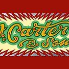"""Skid Car mugs - """"J Carter & Sons"""" green by Carter & Rickard"""