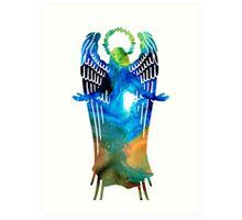 Angel of Light - Spiritual Art Painting Art Print