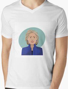 Cartoon of Hillary Clinton Mens V-Neck T-Shirt