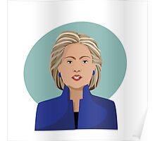 Cartoon of Hillary Clinton Poster