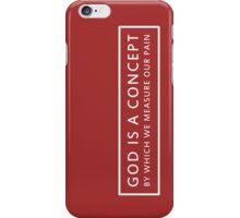 God is a Concept - John Lennon (white) iPhone Case/Skin