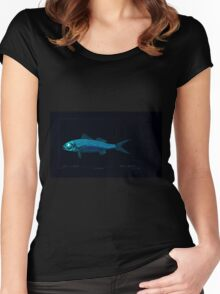 Natural History Fish Histoire naturelle des poissons Georges V1 V2 Cuvier 1849 237 Inverted Women's Fitted Scoop T-Shirt