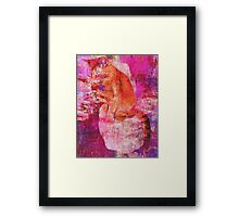 Cat Portrait Painting by Laura L. Leatherwood Framed Print