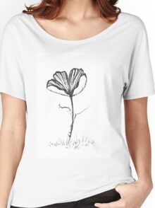 Lonely Poppy Women's Relaxed Fit T-Shirt