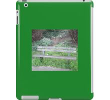 Meet Me Here? - Bench at Woodlands Edge iPad Case/Skin