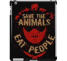 save the animals, EAT PEOPLE iPad Case/Skin