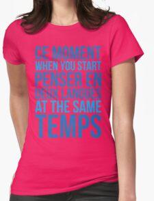 Start Penser En Deux Langues At Same Temps Womens Fitted T-Shirt