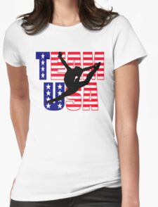 Team USA Gymnastics Womens Fitted T-Shirt