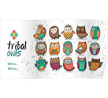 Tribal owls Poster