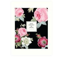 Weekend Garden Parties Floral Quotation Print Art Print