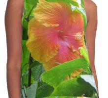 Bright and Colorful Flower  Contrast Tank