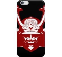 Kabuto graphic in red and white iPhone Case/Skin