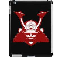 Kabuto graphic in red and white iPad Case/Skin