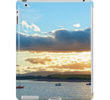 quiet bay with island near kenmare at sunset iPad Case/Skin