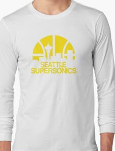 SEATTLE SUPERSONICS BASKETBALL RETRO Long Sleeve T-Shirt