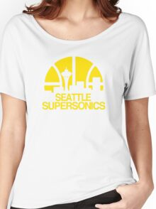 SEATTLE SUPERSONICS BASKETBALL RETRO Women's Relaxed Fit T-Shirt