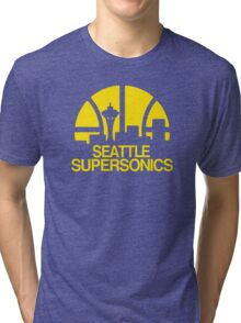 SEATTLE SUPERSONICS BASKETBALL RETRO Tri-blend T-Shirt