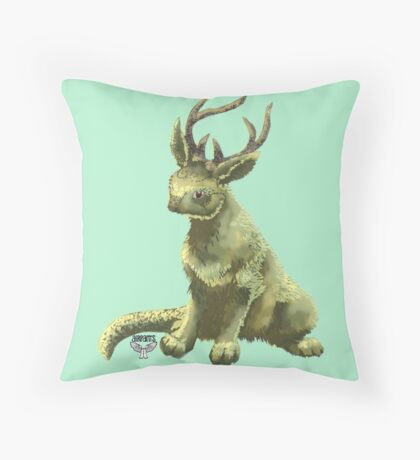 Strange Forest Creature Throw Pillow