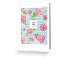 Fall In Love With Your Life Floral Quotation Print Greeting Card