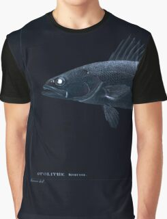 Natural History Fish Histoire naturelle des poissons Georges V1 V2 Cuvier 1849 156 Inverted Graphic T-Shirt