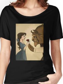 beauty andthe beast give rose Women's Relaxed Fit T-Shirt