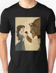 beauty andthe beast give rose Unisex T-Shirt