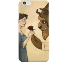 beauty andthe beast give rose iPhone Case/Skin