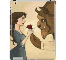 beauty andthe beast give rose iPad Case/Skin