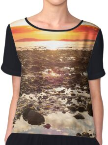red reflections at rocky beal beach Chiffon Top