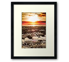 red reflections at rocky beal beach Framed Print