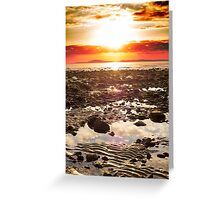 red reflections at rocky beal beach Greeting Card