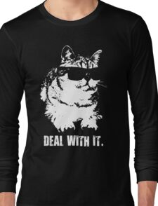Deal With It (Cool Cat) Long Sleeve T-Shirt
