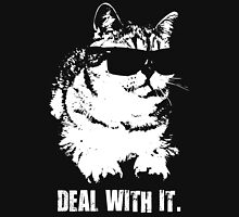 Deal With It (Cool Cat) Womens Fitted T-Shirt